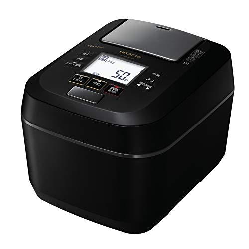 日立 圧力スチームIHジャー炊飯器(5.5合炊き) フロストブラックHITACHI 圧力スチーム ふっくら御膳 RZ-W1...