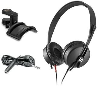 Sennheiser HD 25 LIGHT Monitor Headphones with Headphone Holder & 10' Extension Cable