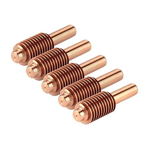 Plasma Elektrode BiuZi 5 Teile/Satz 0,2-0,8 Mpa 100A Plasmabrenner Elektroden Tellur Kupfer Plasmaschneider Verbrauchsmaterial for MAX1650 Plasmaschneidbrenner 220037