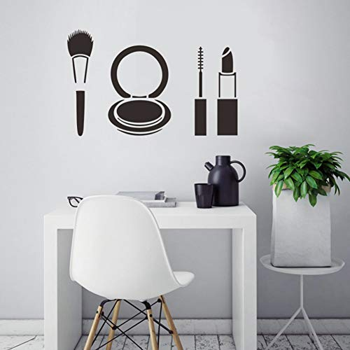 TAOYUE Muurdecoratie Sticker Mode Lippenstift Make-up Vinyl Muurstickers Vrouw Meisjes Badkamer Decoratie Waterdichte Schoonheidssalon Decals