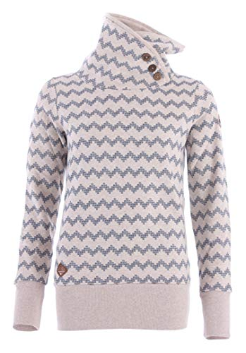 Ragwear Sweater Damen Angel Zig ZAG 1921-30008 Beige 2040, Beige, S