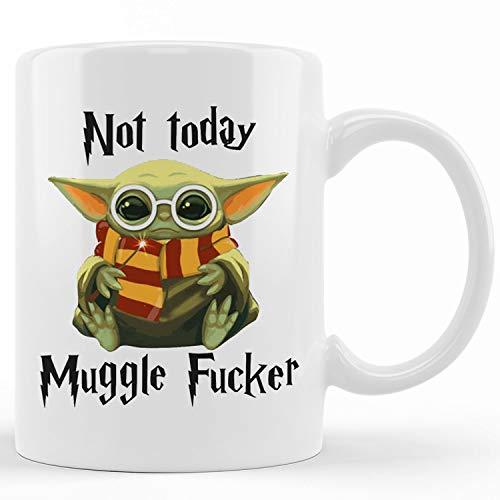 Yoda Not Today Mugglefucker Mug Master Yoda Mug Not Today Mugglefugger Mug Ceramic novelty coffee mugs 15oz Tea Cup Funny Words Gift Present Mug for birthday Christmas Thanksgiving Festival