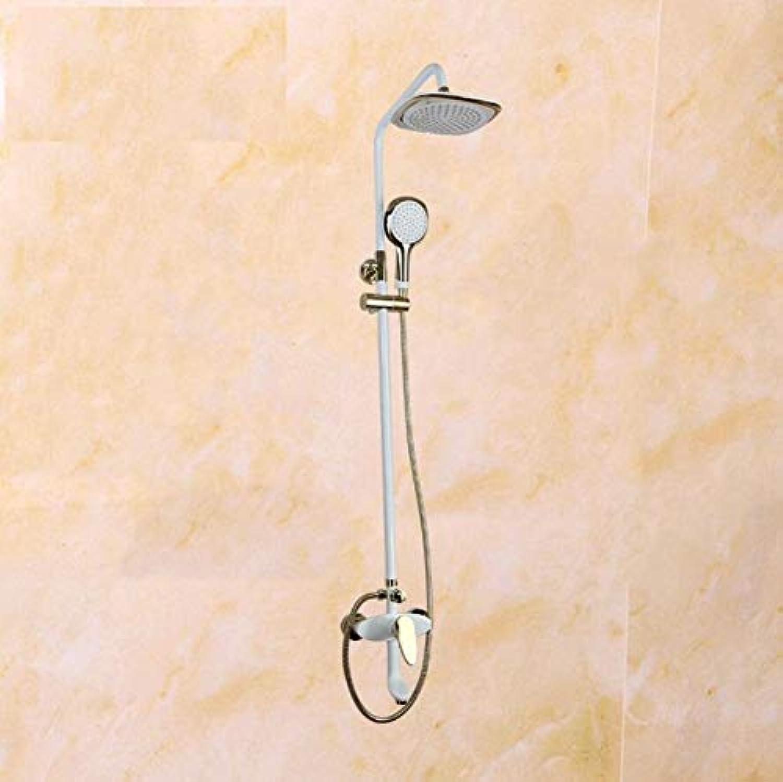 High-end Dusche setzt an der Wand montierten Badezimmer Dusche, Wasserhahn mit Regendusche Kopf & Handheld Duschkopf Feldspritze