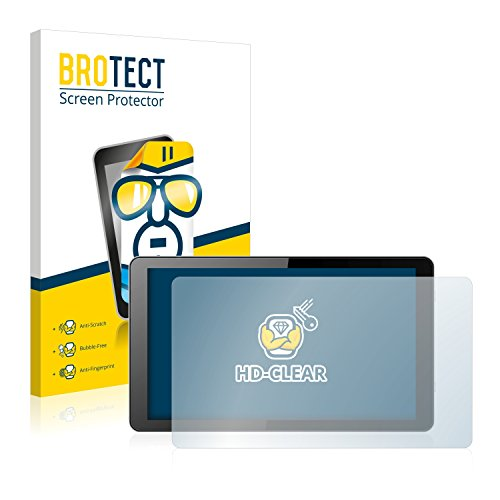 BROTECT Schutzfolie kompatibel mit i.onik Global Tab L1001 (2 Stück) klare Bildschirmschutz-Folie