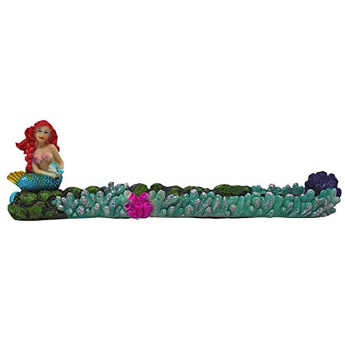 Pacific Mermaid Incense Stick Holder Burner, 11 1/2 Inch