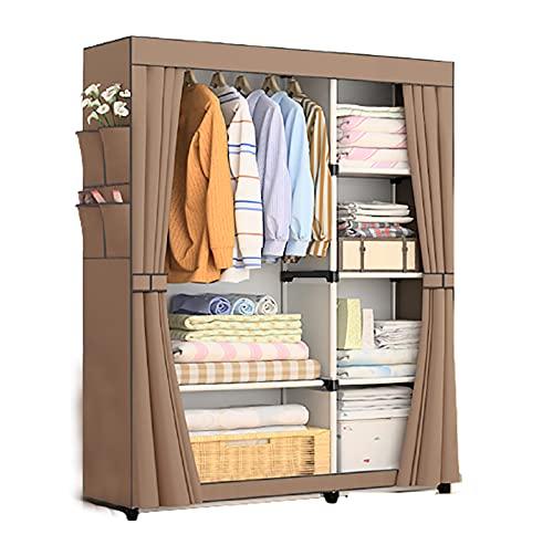 LJWLZFVT Armario de tela, armario plegable, armario portátil, armario plegable, organizador de almacenamiento ideal para guardar equipaje, juguetes, zapatos (tamaño: 105 x 45 x 170 cm, color: A)