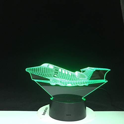 Air Plane 3D LED Night Light 16 Colors Changing Lamp Aircraft Halloween Light Acrylic Illusion Desk Lamp For Kids Gift 2074
