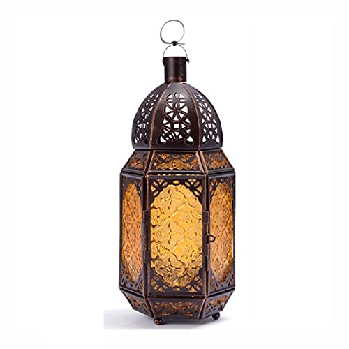 Augu Retro Bronce Hierro Candlestick Lámpara Decoración Marroquí Lámpara De Mesa Decoración del Hogar Ornamento E27 Utilizado como Iluminación De Decoración del Hogar para El Partido Indio Árabe