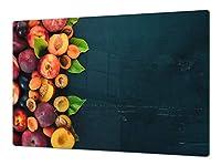 大きい特殊強化ガラスキッチンボード – 耐衝撃&傷防止ガラスカッティングボード – 食器洗い機使用可 – 耐熱&抗菌 DD02