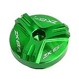Coperchio della spina del motore di riempimento dell'olio di alluminio del motociclo for Ninja ZX6R ZX636 ZX-6R 2019 2020 (Color : Green)