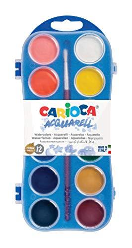 Carioca - Caja 12 acuarelas con pincel, 30 mm (K55123000)