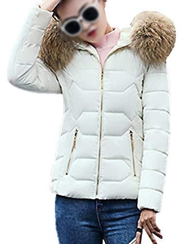 Nvfshreu dames donsjas winter winterjas fauxbontkraag normale lak herfst comfortabele maten warme bekleding met capuchon gewatteerde jas lange mouwen met rits zijzakken