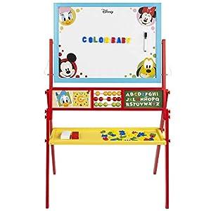 WOOMAX – 2 en 1 Pizarra infantil para niños niñas – Pizarra blanca magnetica infantil con Abaco, Reloj aprender las…