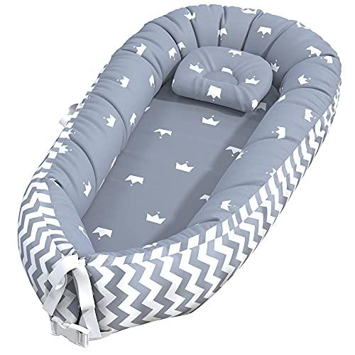 Baby Nest Sleeper, Baby Lounger Co-Sleeper Baby Bassinet for Bed,...
