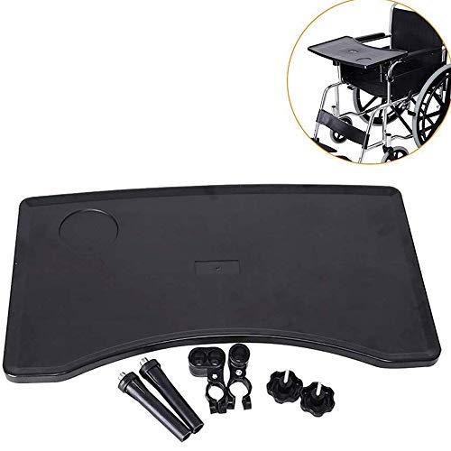 AILSAYA verwijderbare rolstoellade tafel, met bekerhouder Draagbare kinderstoel lade bureaulade accessoire, voor eten, valveiligheid en lezen, geschikt voor rolstoelen 41-57cm breed