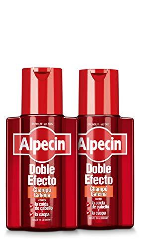 Alpecin Doble Efecto 2x 200ml | Champu anticaida hombre y anticaspa hombre | Alpecin Champu con cafeina tratamiento para la caida del cabello y caspa
