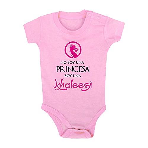ClickInk Body bebé Soy una Khaleesi. Regalo friki, bebé friki, regalo bebé, body bebé friki. Regalo divertido. Manga corta. (Rosa, 3 meses)