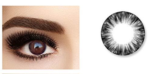Without brand 2pcs / Pair Farbe Kontaktlinse Einjährige Kontaktlinsen Rezept Kontaktlinsen, 0.00 Dioptrien (Farbe : Schwarz, Größe : 0)