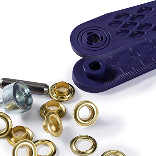 Prym Eyelets and Washers, Brass 5 mm Gold Colour, Nylon