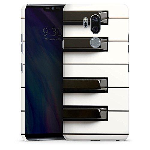 DeinDesign Premium Case kompatibel mit LG G7 ThinQ Smartphone Handyhülle Hülle matt Klavier Musik Piano