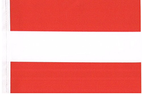 Spain car flag with baton for attachment at the car glas on the scale of cir 12 x 18 Inch by profimaterial