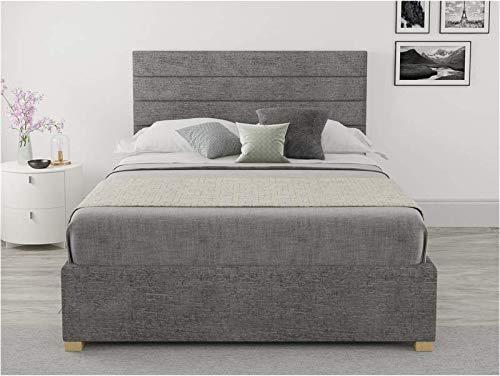 Brayden Studio Super King - Modern Mraz Upholstered Ottoman Storage Bed (Charcoal)