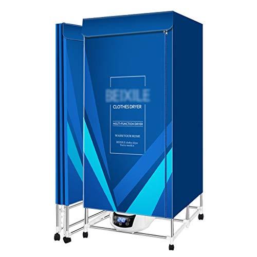 Sèche-linges Télécommandé Intelligent Armoire De Séchage Pliable UV Ultraviolet 2000 W Haute Puissance Et Grande Capacité (Color : Blue, Size : 85 * 50 * 170cm)