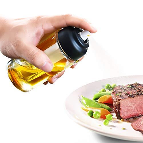 Dispensador de pulverizador de Aceite,150ml Rociador de Aceite, Rociador de vinagre,BPA-Free Safe, para Cocina,Ensaladas,BBQ,Pastas,Barbacoa,Pan,Hornear