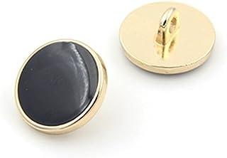 10PCS Clothes Button - Fashion Black Glazed Metal Button Set Sewing Button for Blazer, Coat, Uniform, Shirt, Suit and Jack...