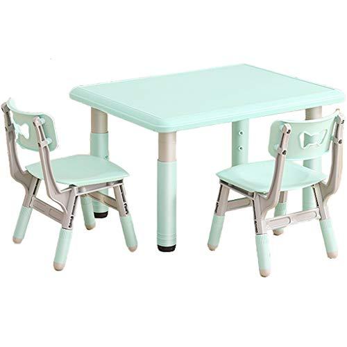 Set da Scrivania Sedia per Bambini, Banco Scuola Bambini, Ideal for Arts & Crafts, Tavolo Giocattoli Tavolo Alzabile Tavolo Bambini, for Studio A Casa Homework Table, 2-10 Anni (Color : Green)