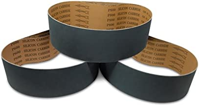 4 X 36 Inch Silicon Carbide Sanding Belts - 600, 800, 1000 Grits - 12 Pack Extra Fine Grit Assortment