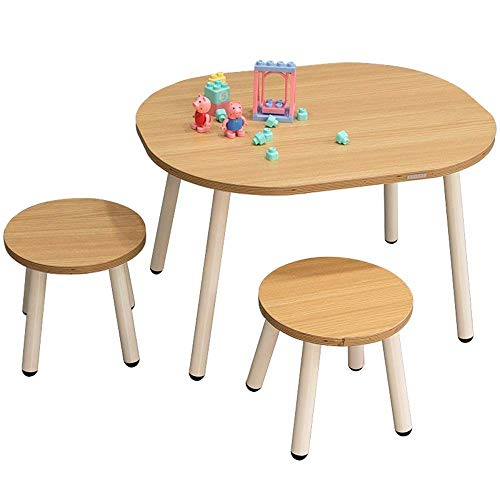 Living Equipment Children Desk and Chair Set Wooden Activity Table Chair Learning Activity Table Baby Play Table Toy Infant Activity Table Study Table Desk Kids (Color : Yellow Size : 70x60/26x27.5