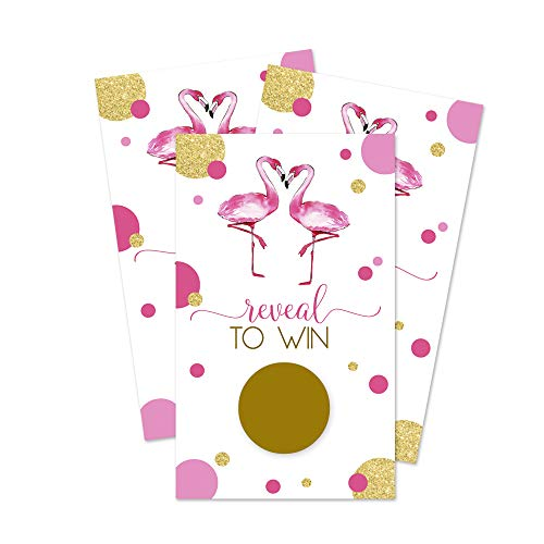 Flamingo Scratch Off Game Cards (30 Pack) Wedding Baby Shower Party Raffles