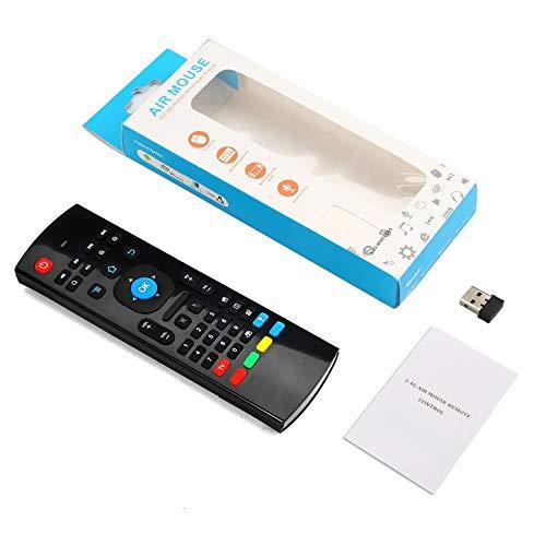 2.4G Mini Wireless 81 Keys Sprach Tastatur-Maus-Infrarotfern Lernen & 3-Gyro + 3-Gsensor Air Fernbedienung für Android
