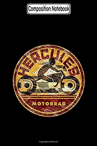 Composition Notebook: Hercules Distressed Image Biker Motorcycles Notebook