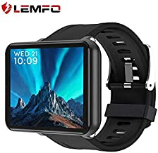 LEMFO LEMT Smartphone Smartwatch 4G with SIM Card and Many More Software, Android 7.1 System (Black)