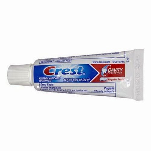 Crest, Cavity Protection Fluoride Anticavity Toothpaste, 0.85 Oz Travel Size (10 Pack)