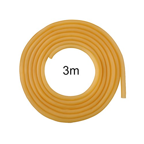 Liusin 3 Meters 6x9mm Natural Latex Rubber Band Rubber Hose Band Tube Tubing Elastic Belt for Sport Slingshot Catapult Elastic Fitness Muscles Rally Exercise Outdoor Hunting