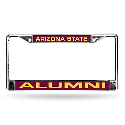 NCAA Arizona State Sun Devils - Alumni Laser Cut Inlaid Standard Chrome License Plate Frame