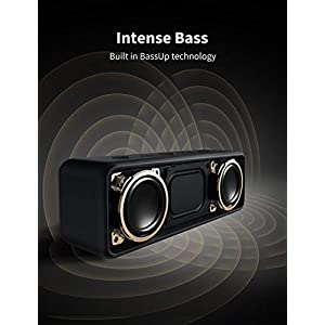 Anker SoundCore 2 Bluetooth Lautsprecher, Fantastischer Sound, Enormer Bass mit Dualen Bass-Treibern, 24h Akku, Verbesserter IPX7 Wasserschutz, Kabelloser Lautsprecher für iPhone, Samsung (Schwarz)