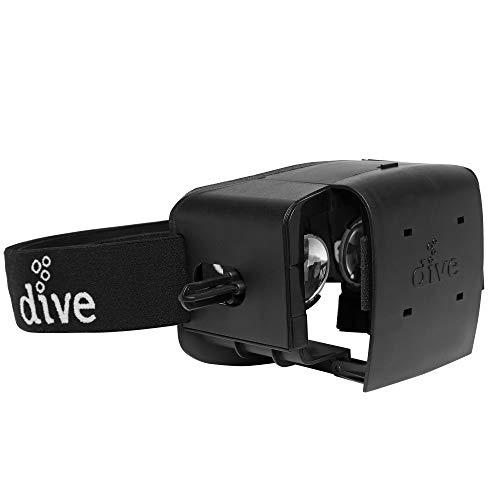 Durovis Dive 5 - Cuffie per realtà virtuale - Set VR per giochi 3D, film, video, app di Google Play e App Store di Apple - per smartphone Android e iOS: Apple / Samsung / LG / Sony / Huawei / HTC