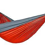 Gmasuber Hamaca portátil doble y individual con 2 eslingas, hamaca de paracaídas de nailon ligero, apta para viajes, playa, patio, camping, etc