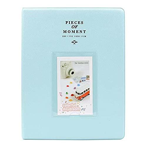 64 bolsillos para Fujifilm Mini Films para Instax Mini 8 7S 70 25 50S 90 Tarjetas de nombre Piezas de álbum de fotos de momentos - Azul cielo