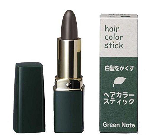 天然由来成分100%自然派の白髪隠し グリーンノート  ヘアカラースティック ダークブラウン 4g 6セット