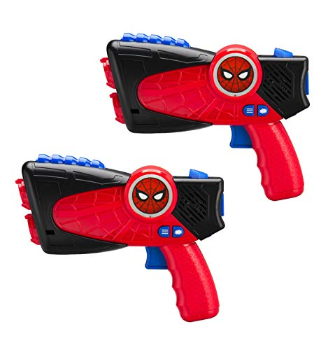 eKids Marvel Spiderman Far from Home Laser-Tag Infared Blasters, Lights Up & Vibrates