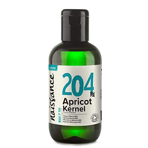 Naissance Aprikosenkernöl BIO 100ml – rein, natürlich, vegan, hexanfrei, gentechnikfrei - ideal als Massageölbasis – feuchtigkeitsspendend & pflegend