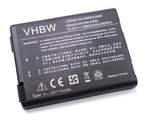 vhbw Batterie Compatible avec HP Compaq Business NX9110 Laptop (6600mAh, 14.8V, Li-ION, Noir)