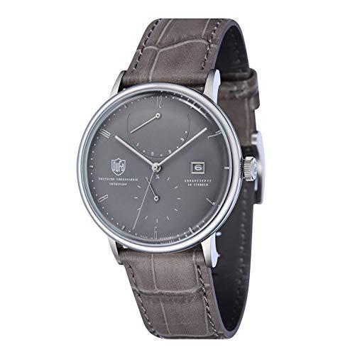 Dufa Deutsche Uhrenfabrik Unisex Analog Quarz Uhr mit Leder Armband Albers DF-9010-02 Automatik