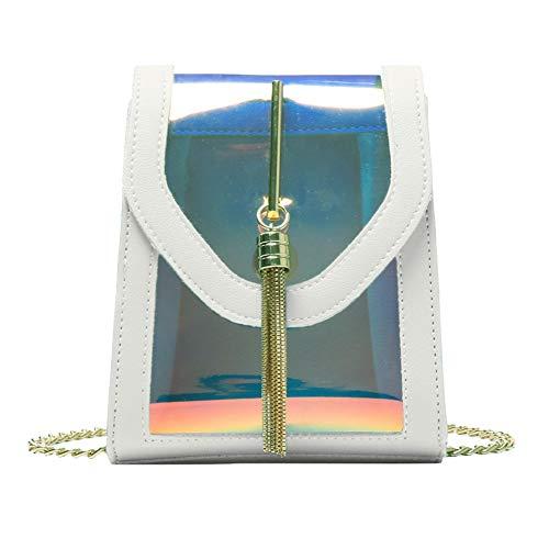 PCBDFQ damestas nieuwe vrouwen Casableness Femme Art en Weisedamestas in contrast-kleuren diagonale schoudertas kettingtas strandtas