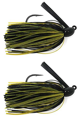 Reaction Tackle Swim Jigs 3/8 oz Green Pumpkin/Black
